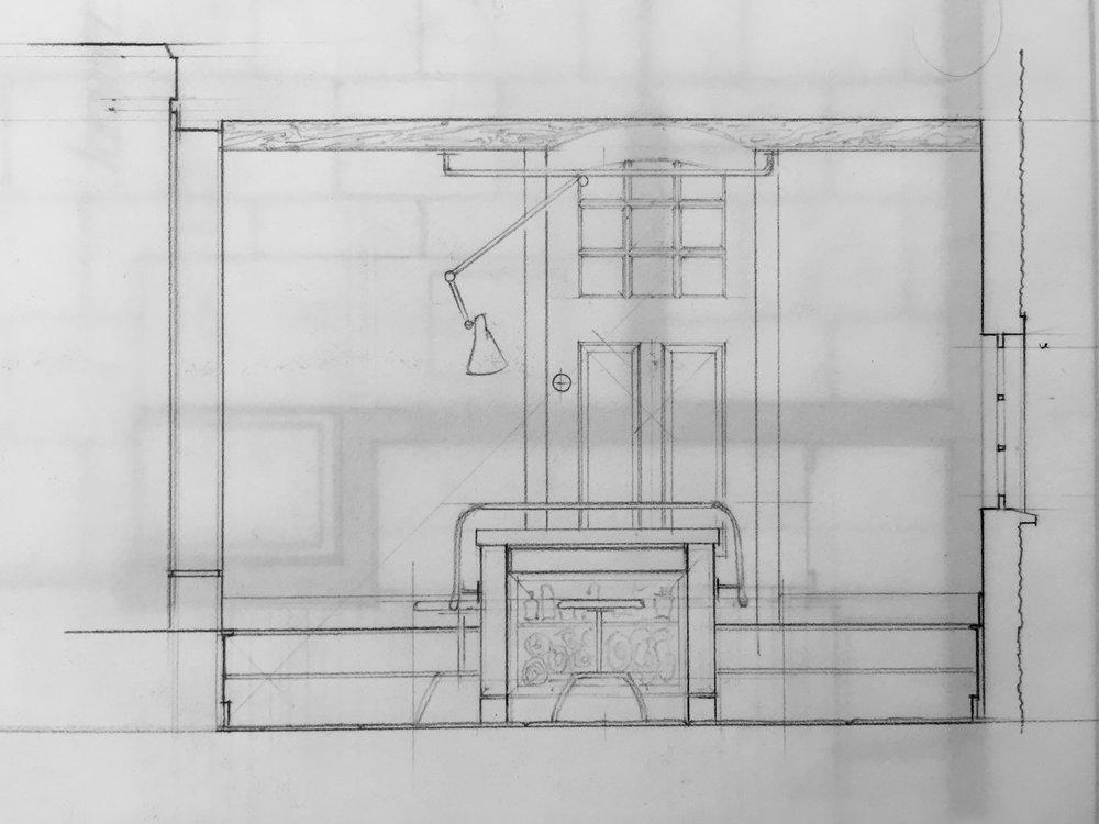 Measured Drawing of a Basement Studio