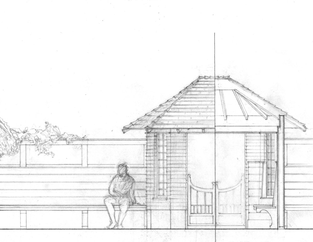 Measured Drawing of a Garden Folly