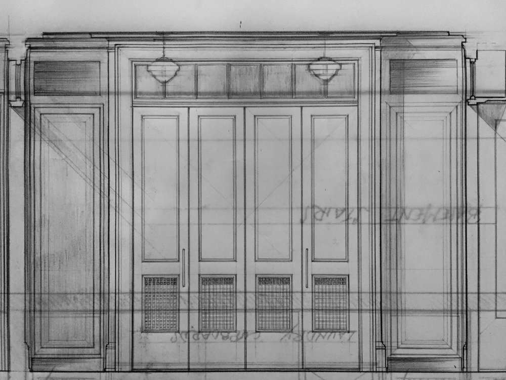 Measured Drawing of a Butler's Pantry