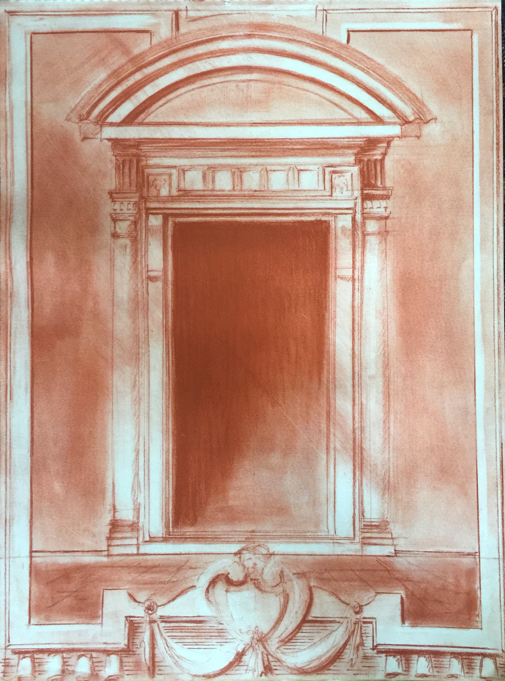 Sanguine Pastel, Michelangelo Door