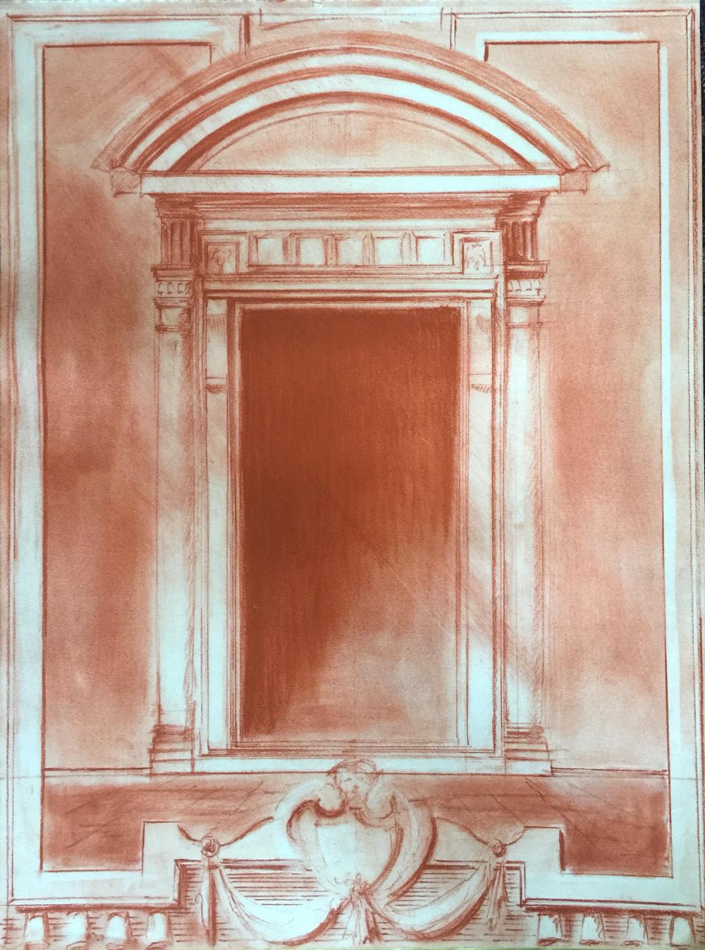 Sanguine Pastel, Michelangelo Door