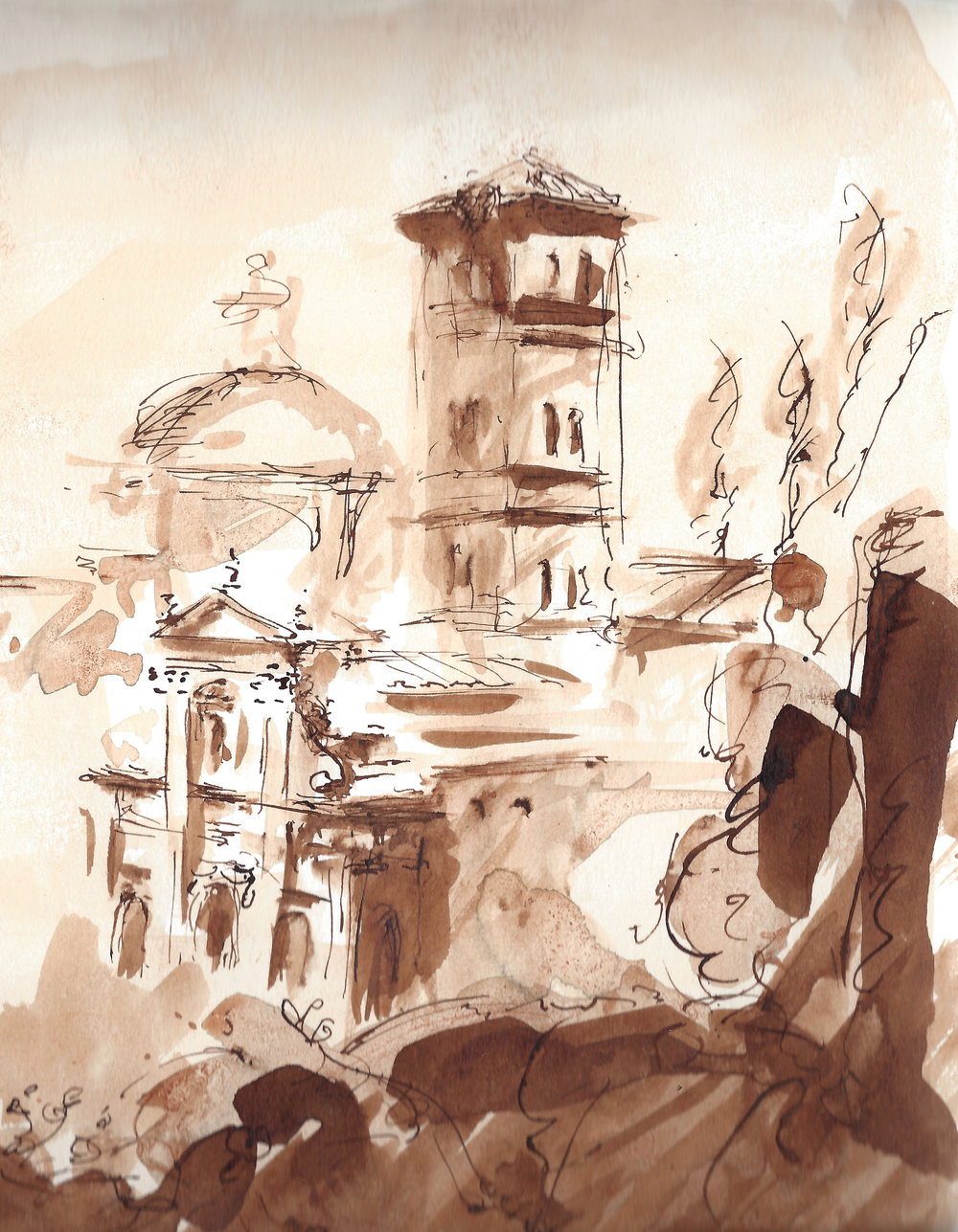Pen and Ink, Rome