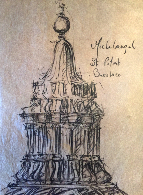 Lithocrayon, Cupola of St. Peter's Basilica
