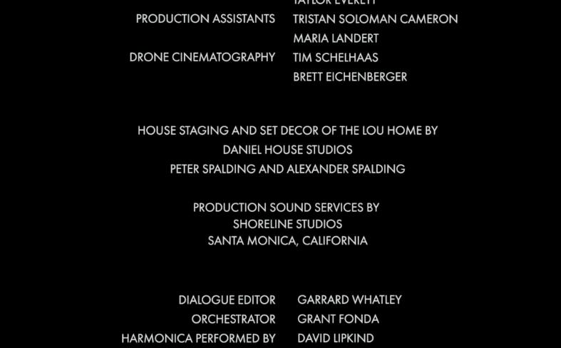 credits from the movie Pretty Broken.