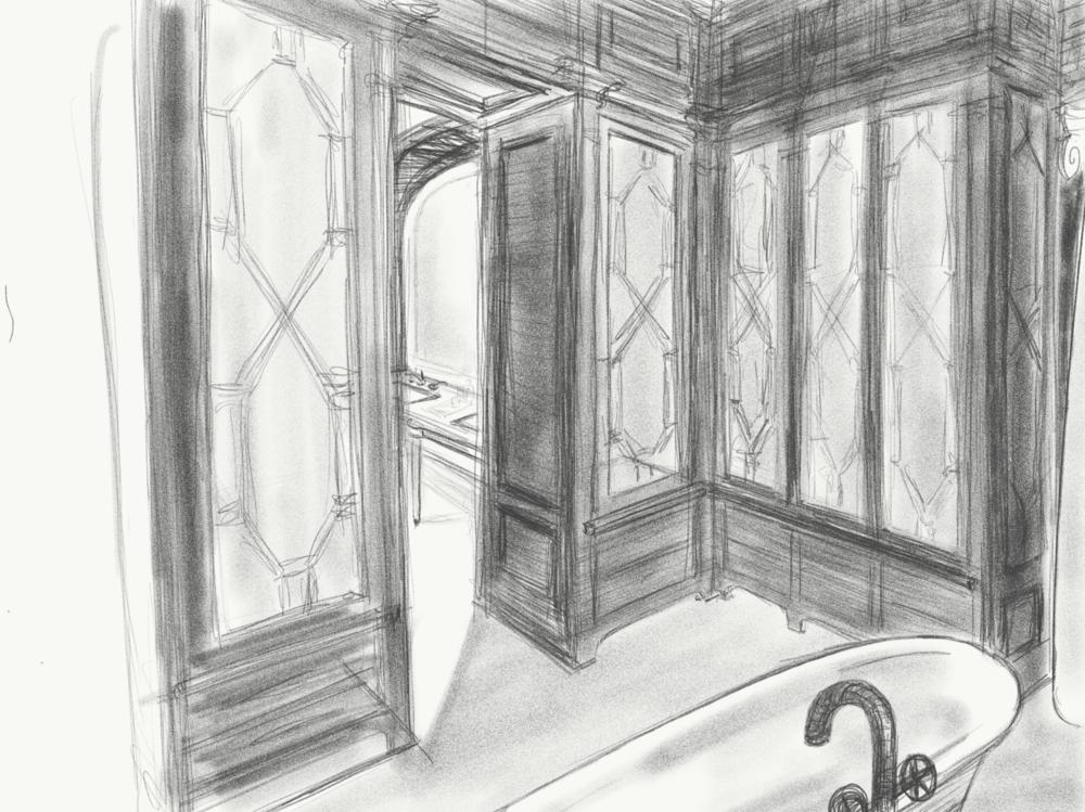 classical private bathroom