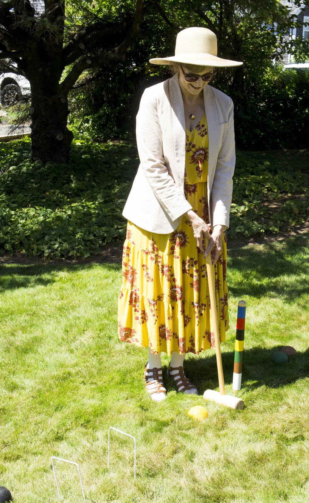 croquet player cannon beach, Oregon