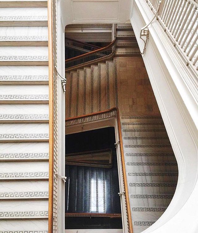 #repost @thepeterspalding: Grand staircases alway entice the imagination. The very best houses and buildings do not reveal their stair halls immediately upon entering. Instead they have a series of rooms and maybe some twists and turns beforehand, like a good story does before its climax.