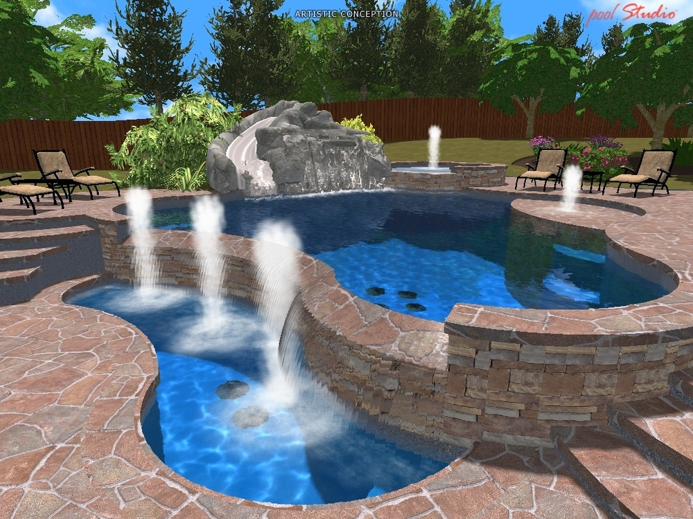 Design fusion pool spa for Pool design estimator