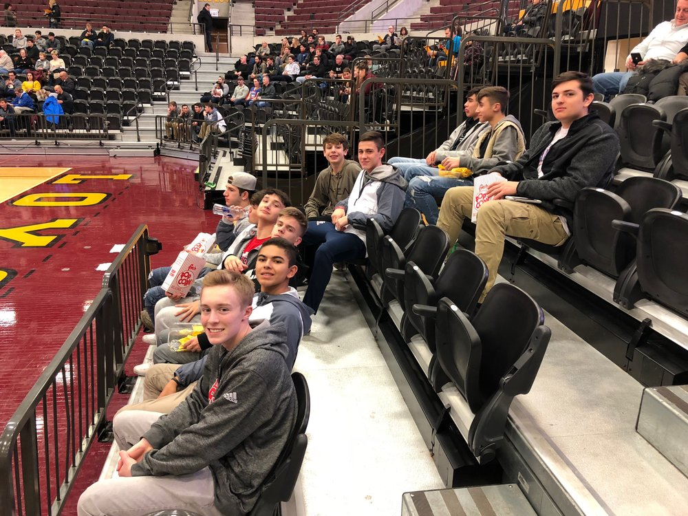 Boys 16 Red attends an NCAA DI match (Loyola vs. Long Beach State)
