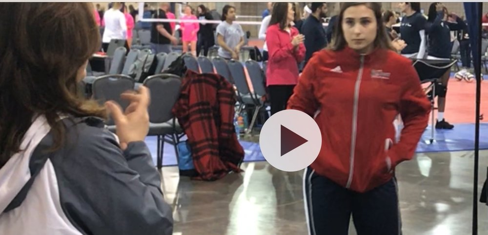 Talent abounds on the Girls 18 White Northh team - and not just on the court.  Pictured above, Maria Vasiliou performs the National Anthem at the Philadelphia NEQs.