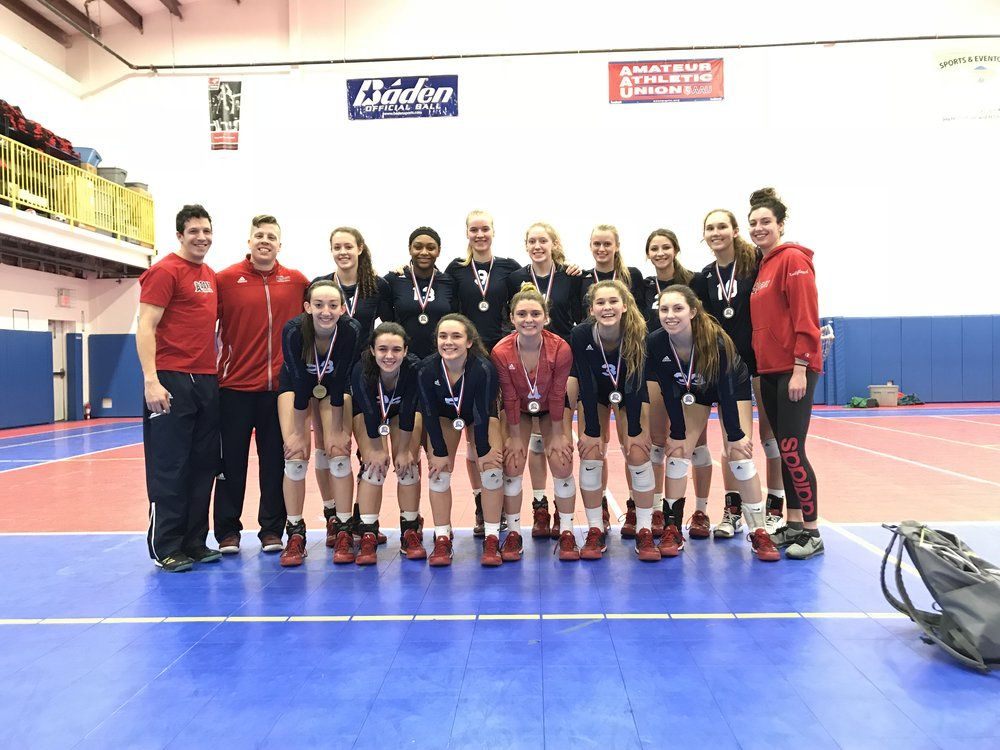 Girls 18 Red Win GEVA Tournament. - A familiar statement this season.