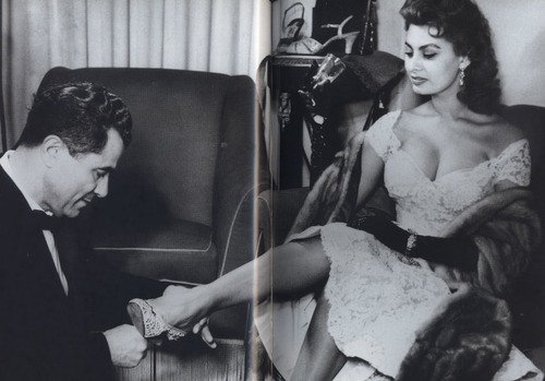 Salvatore Ferragamo with screen legend Sofia Loren