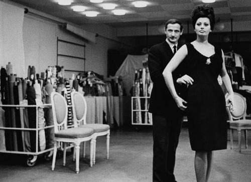 Mr Dior with Sofia Loren