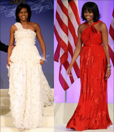 The Jason Wu custom gowns she wore at her husband's presidential ball