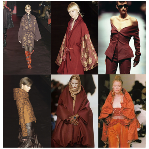 Some vintage looks from the Romeo Gigli shows in Milan in the early 1990s.