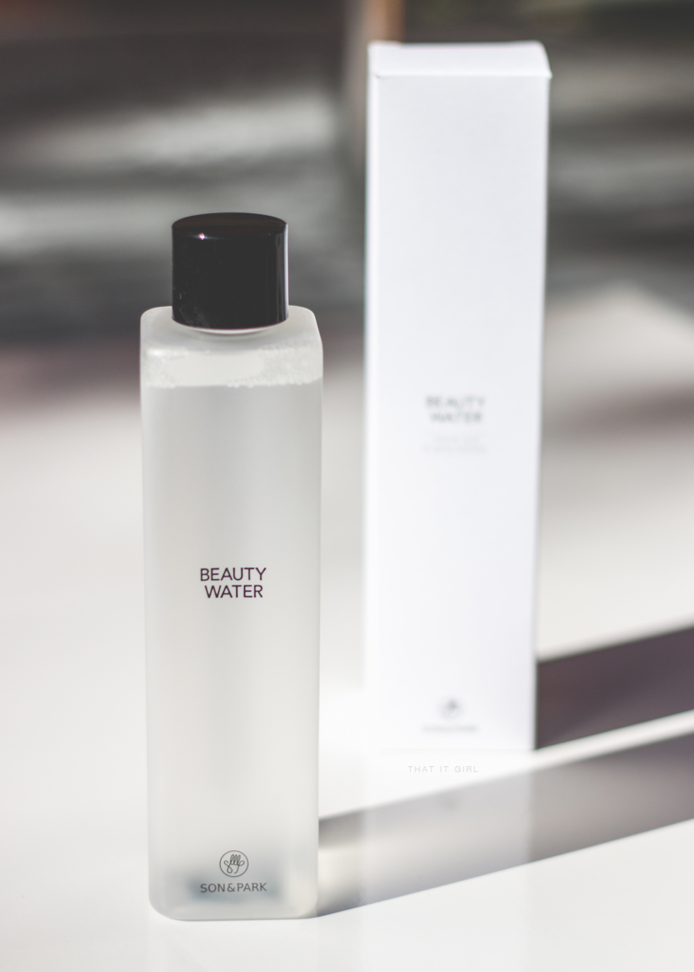 The current toning water i use for the 7 skin method: Son & park's beauty water                                                                       . image from that it girl