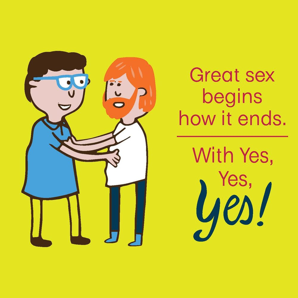 Great sex begins how it ends. With Yes, Yes, YES!