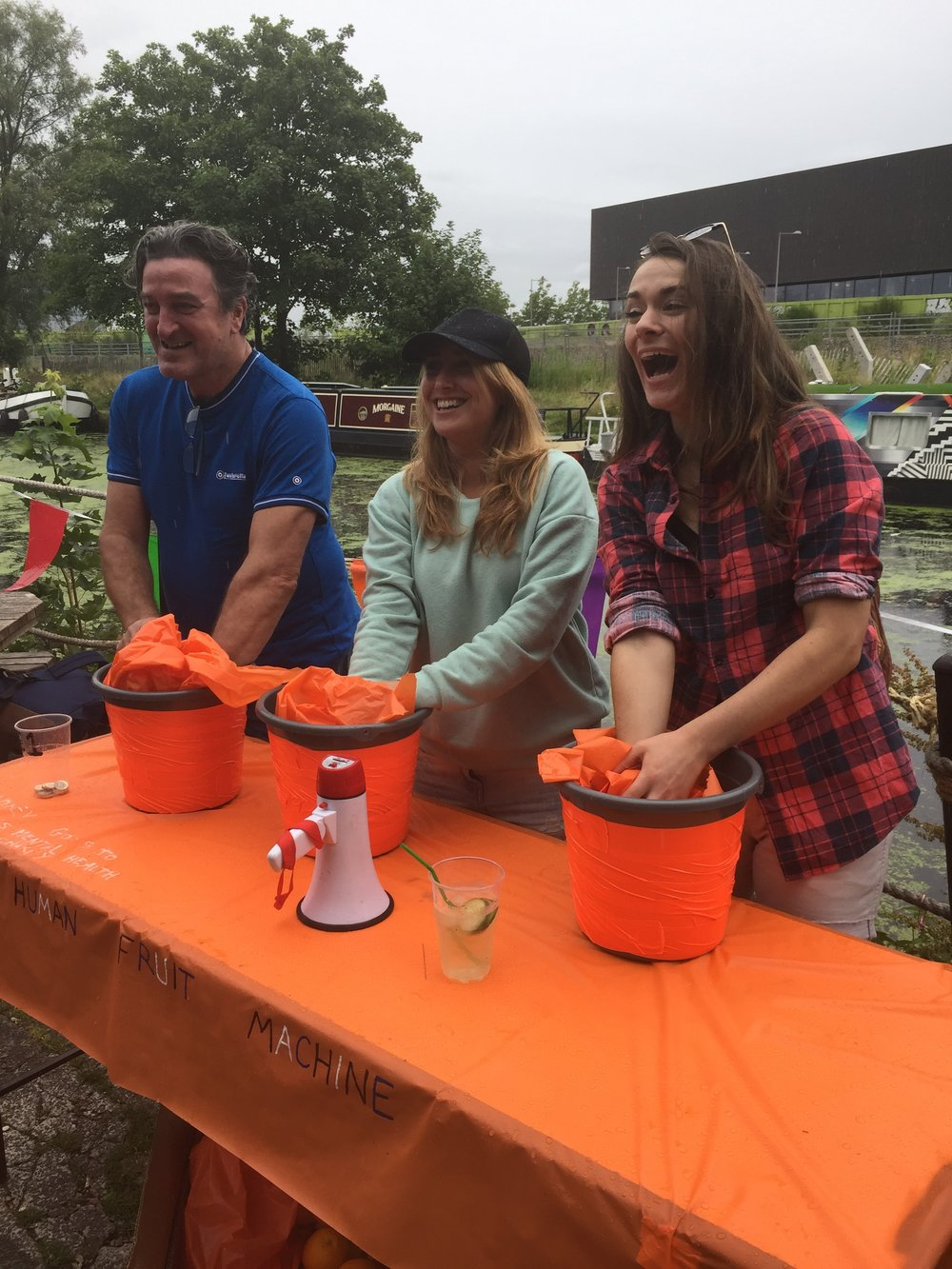 Human Fruit Machine at the Village Fete, part of Hackney WickED 2017
