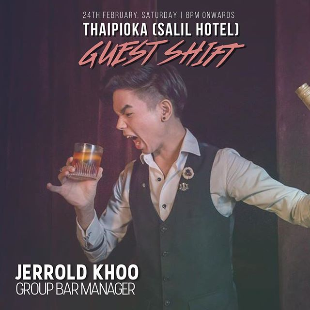 In case you didn't realise, our resident rockstar @jerroldkhoo has taken over our Instagram stories 💕 If you happen to be in BKK, catch him at @thaipioka.bkk for some mean cocktails 😎