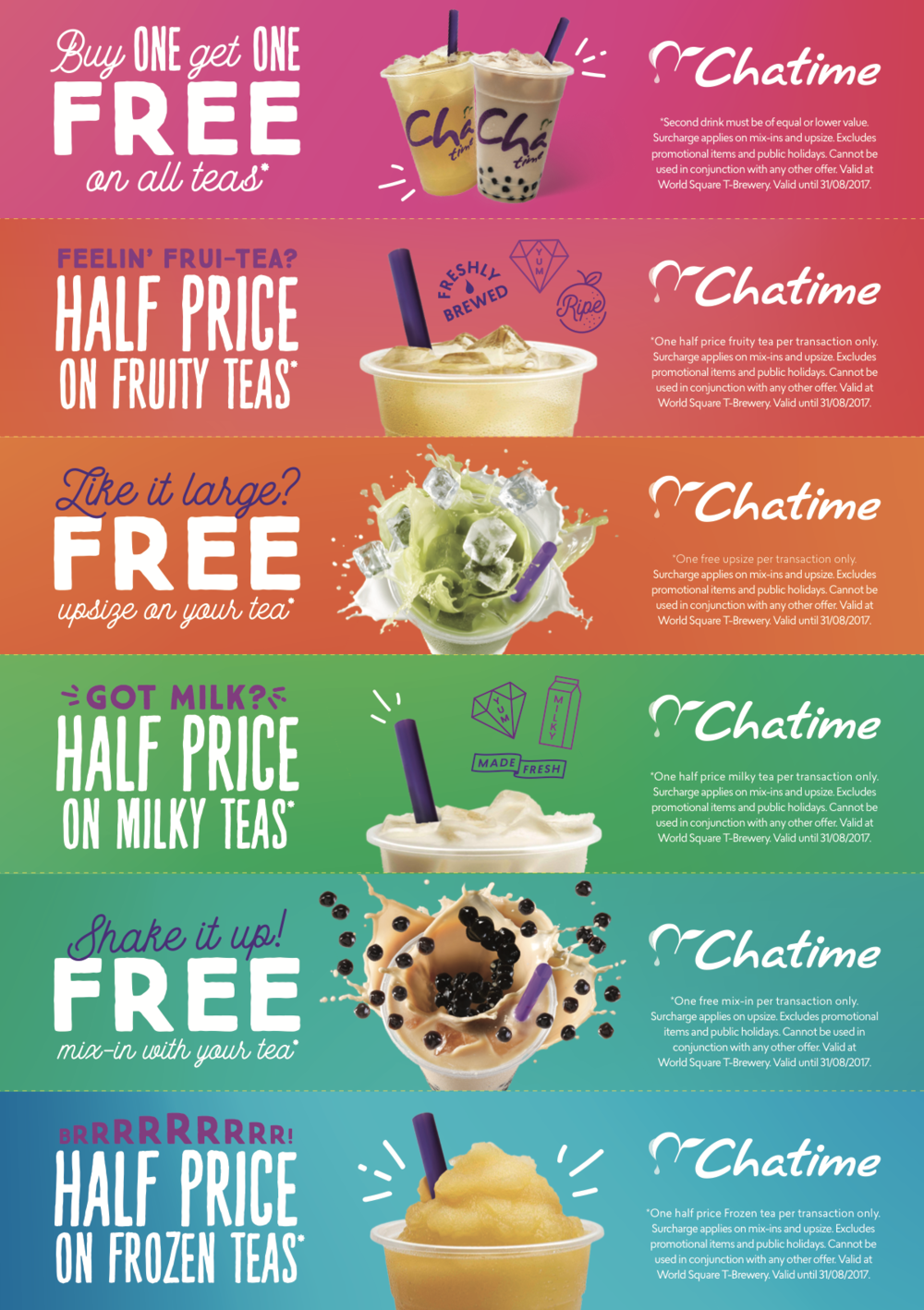 Chatime herbal tea - Tea Riffic Offers A5 Flyer Double Sided Perferated