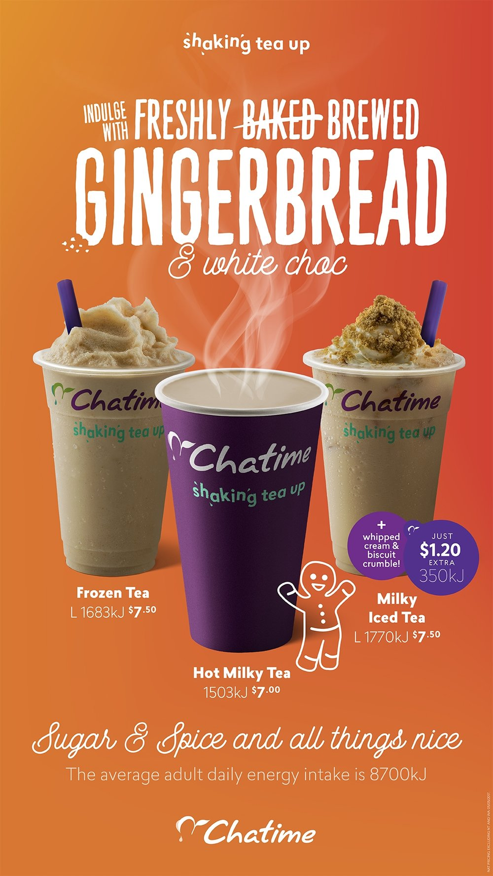 Chatime herbal tea - Campaign Artwork For The Launch Of New Seasonal Drink Flavour Gingerbread White Chocolate Consisting Of Lockup Hdtvs Posters Window Decals Badges