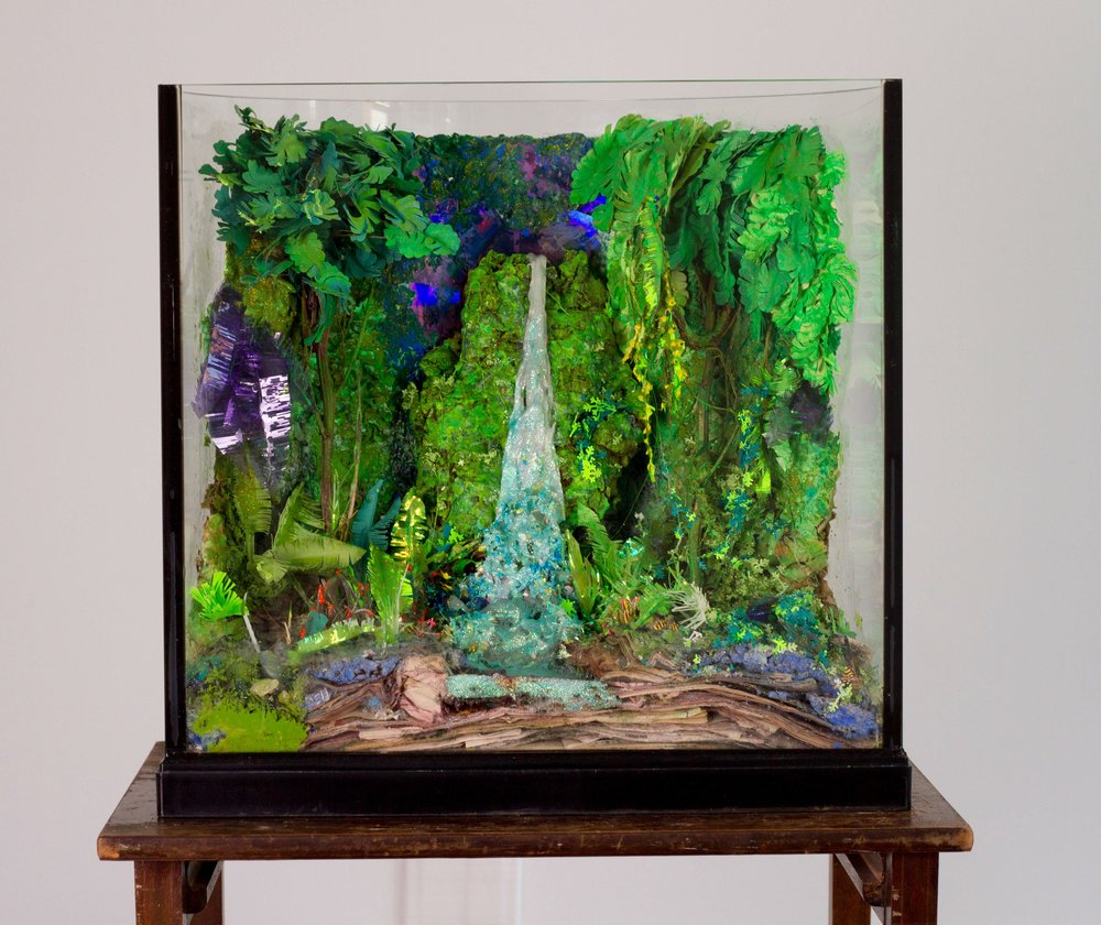 Tommy Hartung    Diorama , 2014  Mixed media  44 x 20 x 16in. (111.8 x 50.8 x 40.6cm)