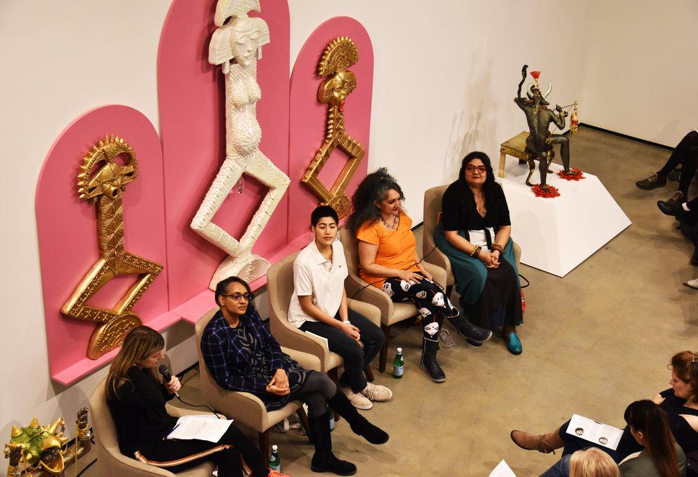 [From left to right] Melissa Hilliard Potter, Anuradha Vikram, Emma Sulkowicz, Jaishri Abichandani, and Swati Kurhana