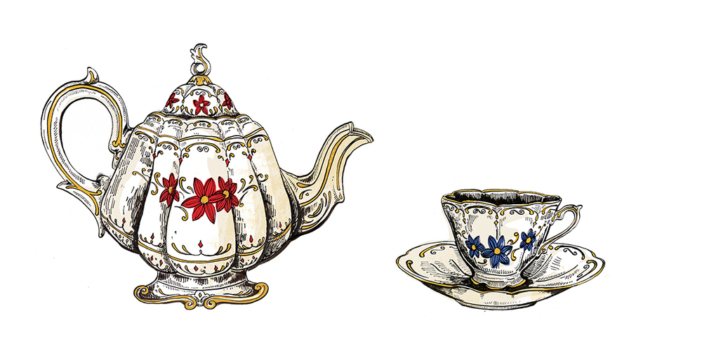 Tea Pot and Tea Cup