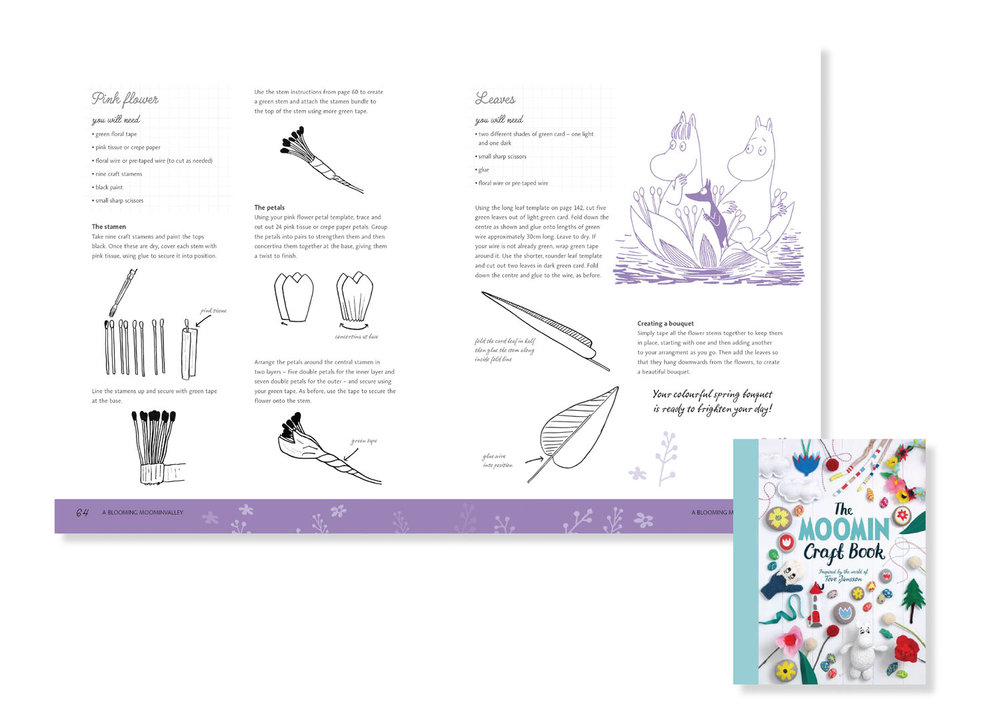 Snorkmaiden's Spring Bouquet -illustrated instructions