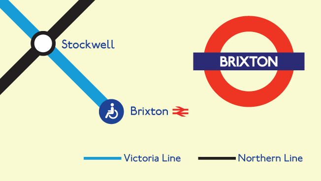 We are a short walk from Brixton underground Station on the Victoria Line