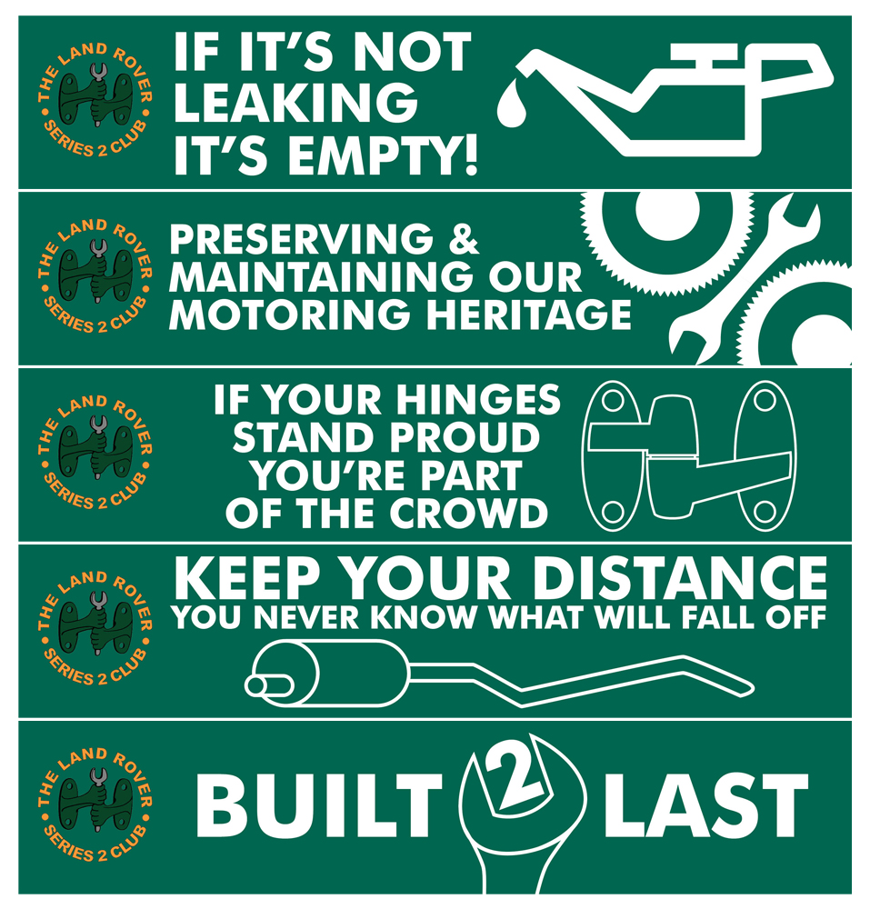 LAND ROVER OWNERS CLUB STICKERS