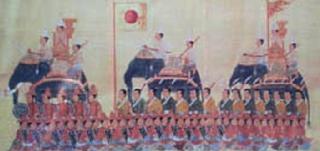 War Elephant with Japanese Mercenaries