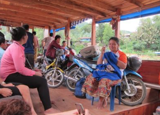 Bike and Local Laotians