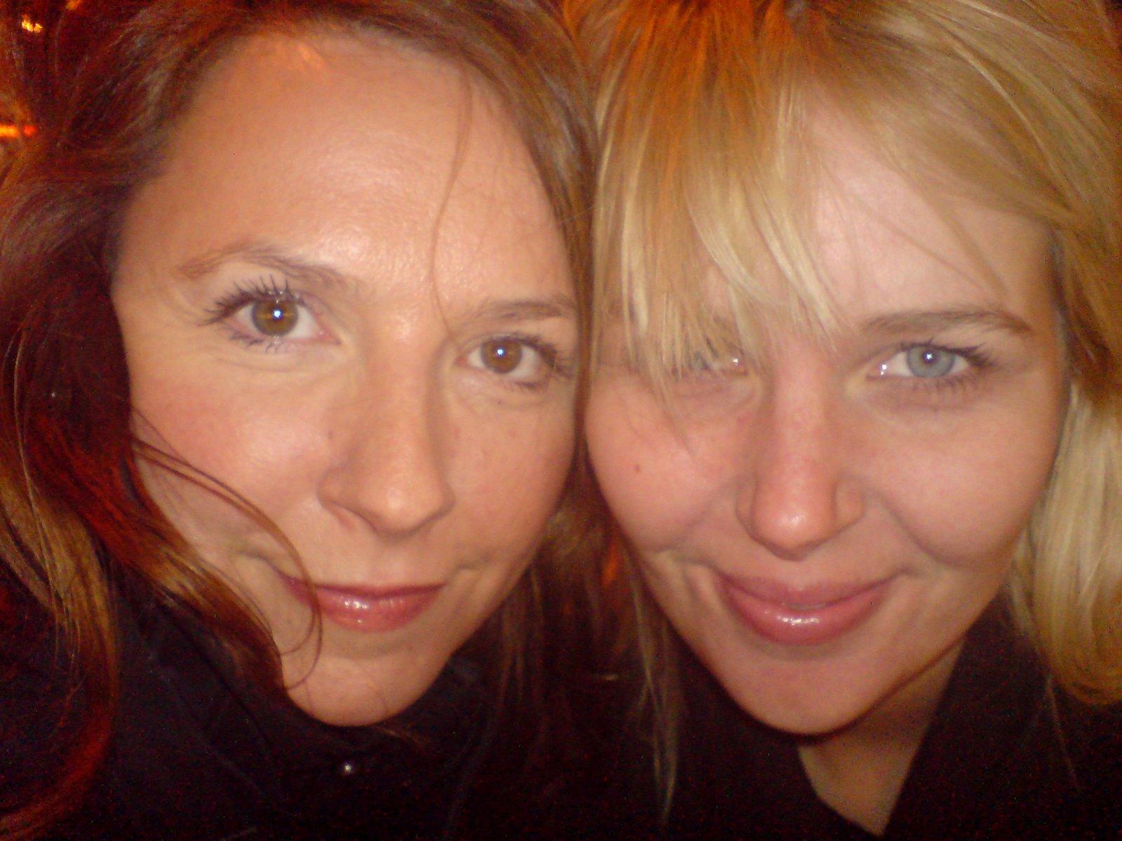 Kristin og meg på vår første av det som skulle bli mange heisaturer til NYC.