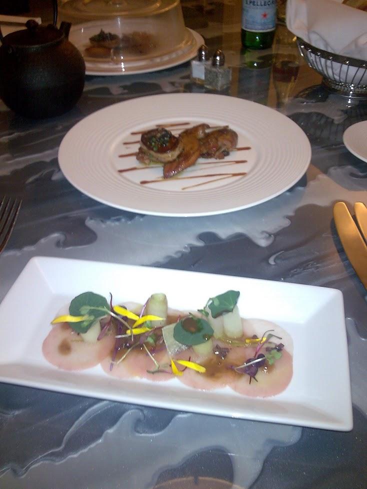 Sashimi & foie gras et fint sted jeg ikke husker hva heter