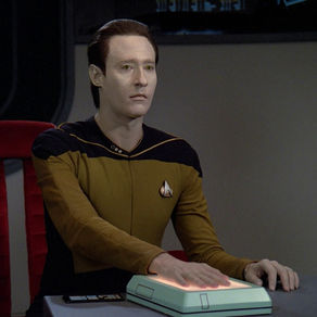 "Lt Commander Data on trial in the episode ""The Measure of a Man"" from Star Trek: The Next Generation (S02E09)  image copyright  Paramount Pictures"