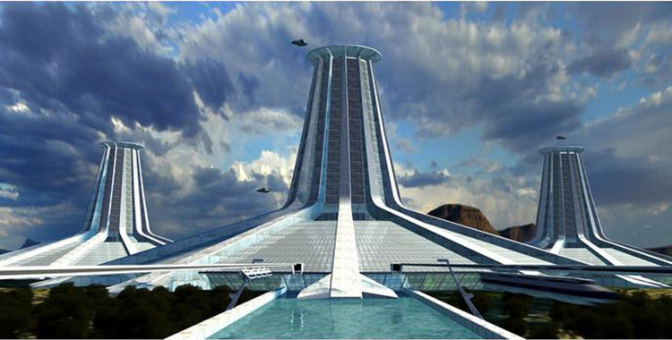 Will technology provide us with the utopian future that we dream of?  image copyright  Jacque Fresco