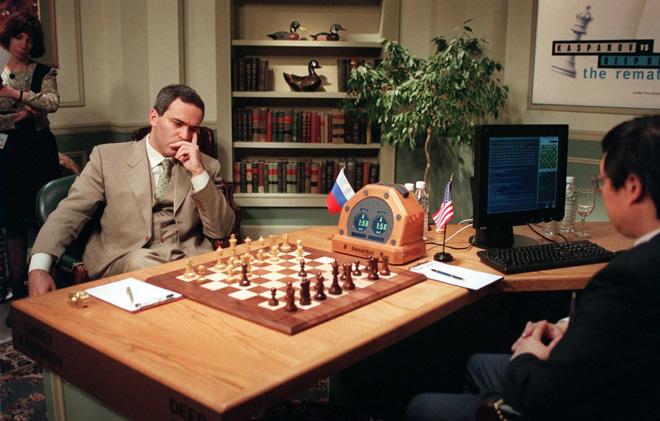 Rookie move: Gary Kasparov losing to IBM's 'Deep Blue' chess-playing AI  Image credit Adam Nadel/ Associated Press