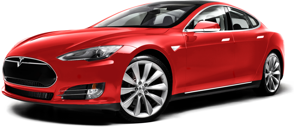 A Tesla Model S in red. Just like any other car  Image copyright Tesla Motors