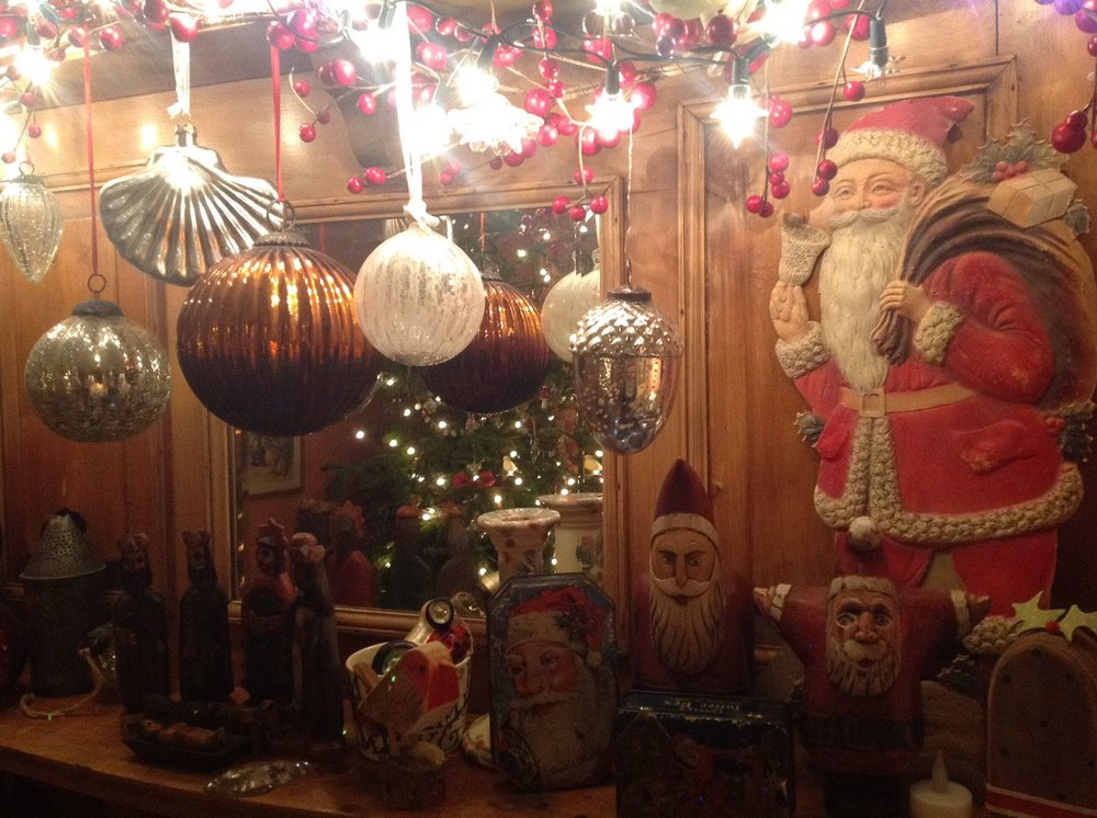 You cannot have too many baubles and quirky Father Christmas figures.
