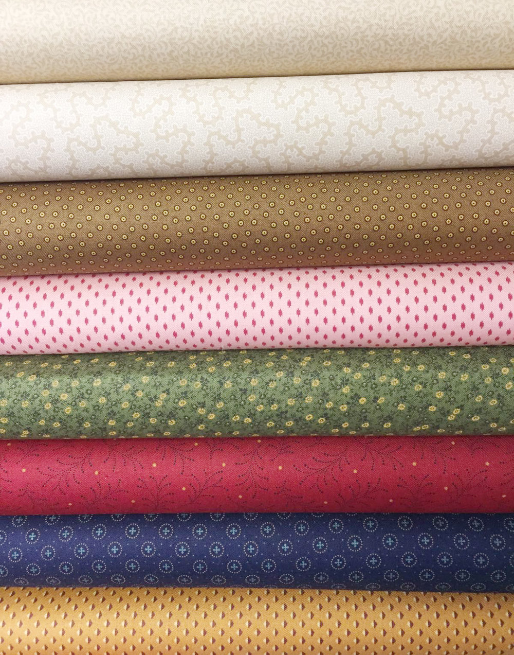The new fabrics that will make up your Harriet Tubman quilt