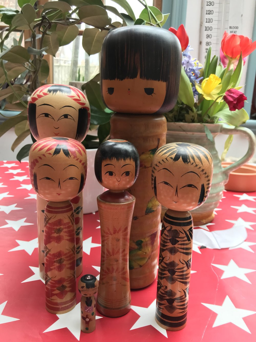 My Japanese Doll collection, back safe at home in Hailsham!