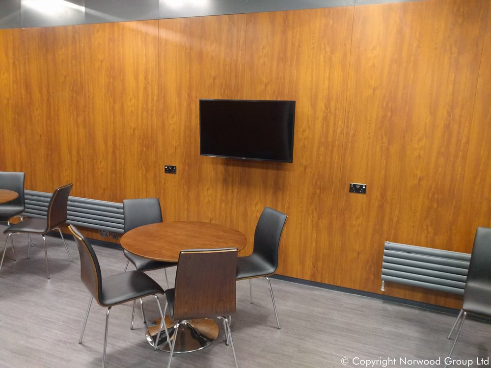 Charles Taylor Auctioneers Golden Oak Coloured Steel Wall Lining Panels