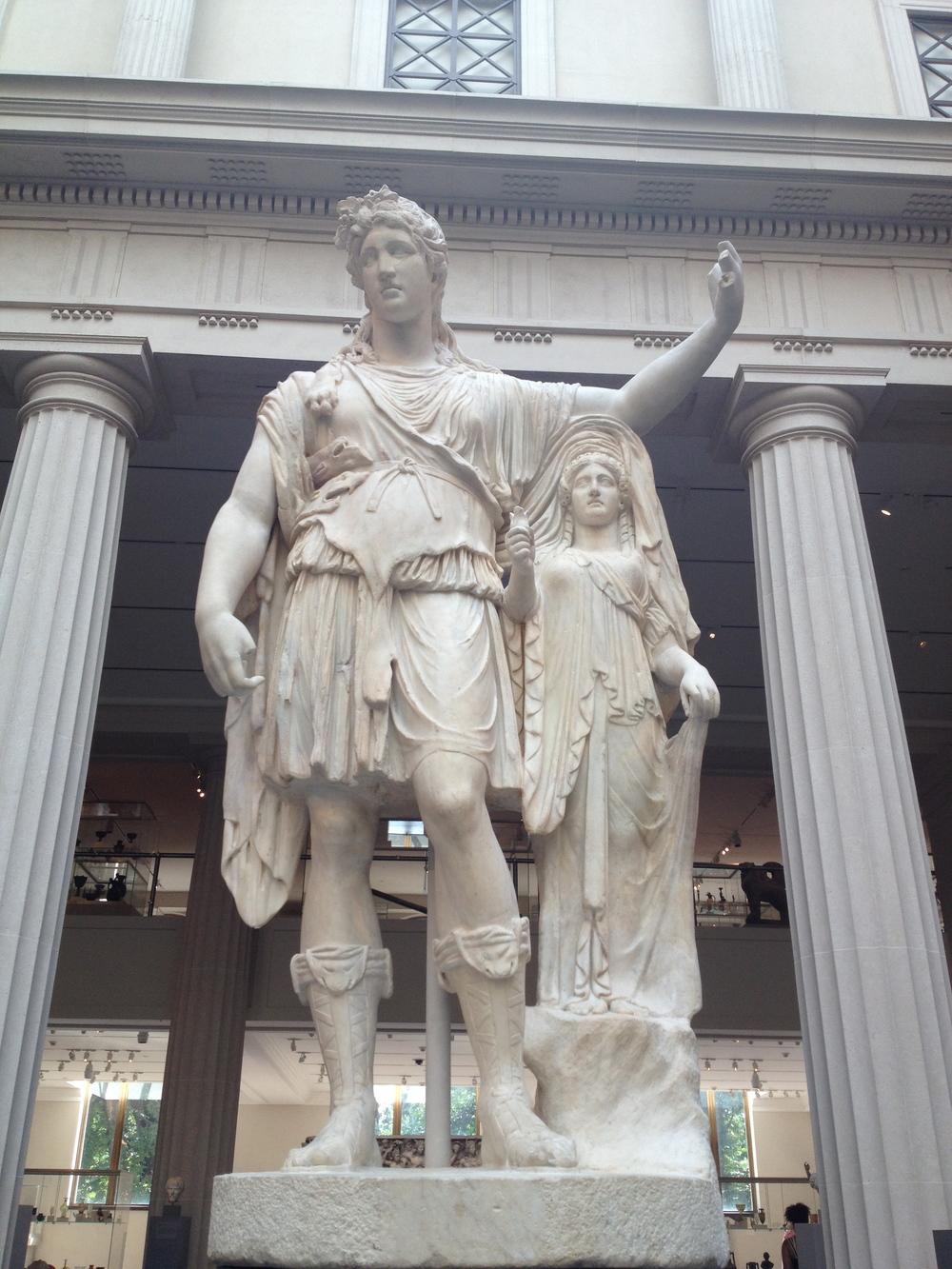 Dionysos resting his arm