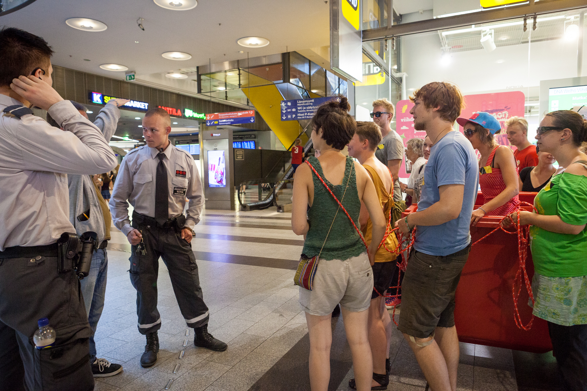 Entering the second station caused some questions in local officers. Picture: Veera Konsti