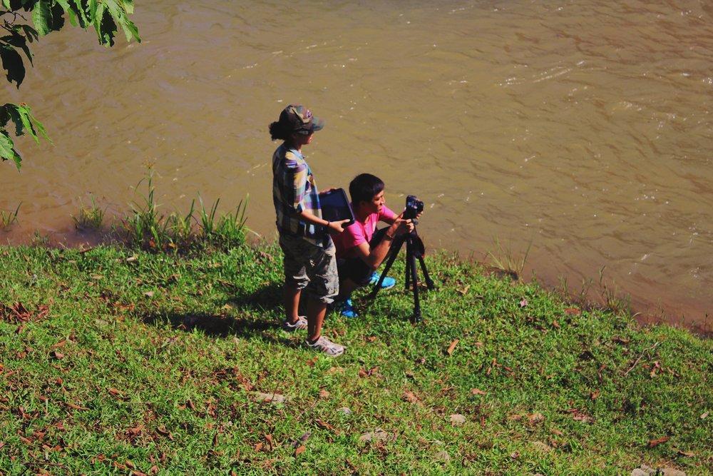Director Nik & Cameraman Hendy shooting Ampang Pecah
