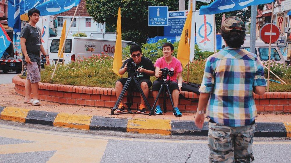 Shooting the Kuala Kubu Bharu town centre