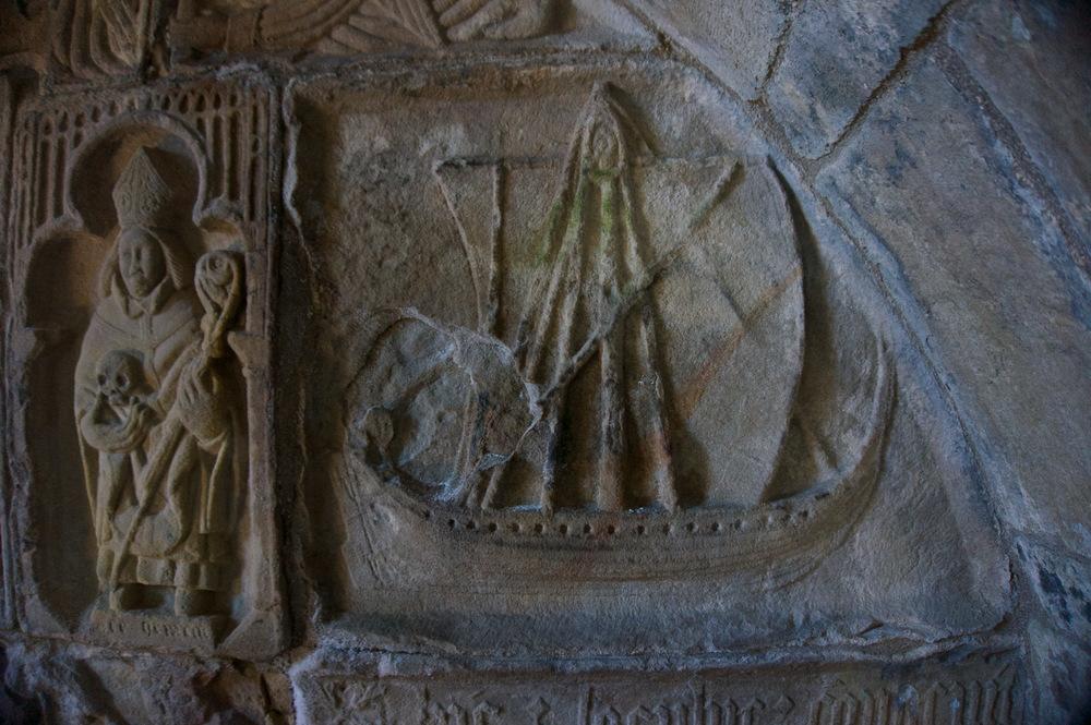 Birlinn Ship engraving