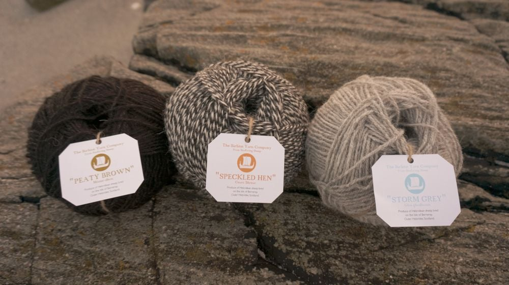 New DK knitting yarn with all new Birlinn Yarn labels.