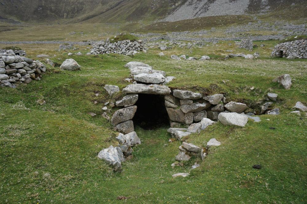 Iron Age souterrain on the edge of the village.